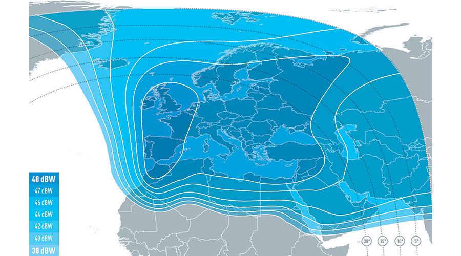 FlySat Eutelsat 5 West A @ 5° West Beams